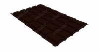 М/ч квадро Grand Line 0,5 GreenCoat Pural RR 32 темно-коричневый (RAL 8019 серо-коричневый)
