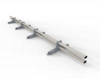 Снегозадержатель D-Bork для фальца оцинкованный 3 м 4 опоры RAL 9006