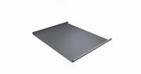 Фальц двойной стоячий 0,45 PE с пленкой на замках RAL 9006 бело-алюминиевый