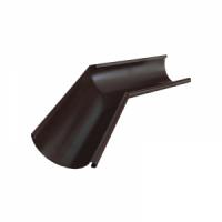 Угол желоба 125 мм 135 гр RAL 8017