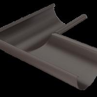 Угол желоба 90 гр 125 мм RAL 8017