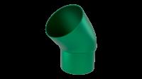 Колено трубы LINKOR 45⁰ (алюминий толщина 1,2 мм)RAL 6005