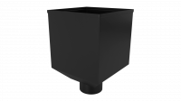Воронка водосборная LINKOR Ø 100мм (255,5-ш/220-в) (алюминий толщина 1,2 мм)RAL 9005