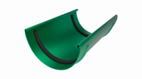 Соединитель желоба LINKOR 120мм (алюминий толщина 2 мм) RAL 6005