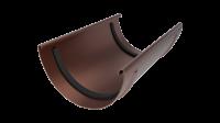 Соединитель желоба LINKOR  150 мм (алюминий толщина 2 мм) RAL 8017