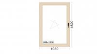 Алюминиевое окно серия 65 (теплое) 1030*1520