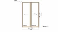 Алюминиевое окно серия 72 (теплое) 1620*2476