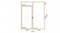 Алюминиевое окно серия 65 (теплое) 2210*2640