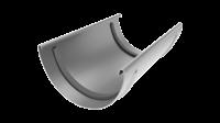 Соединитель желоба LINKOR 120мм (алюминий толщина 2 мм) RAL 7004