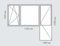Балконный блок Rehau Brillant для домов серии II-49