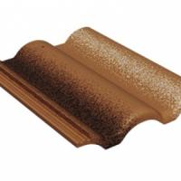 Цементно-песчаная черепица Braas Адриа коричневый
